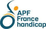 Logo bloc APF France handicap bichromie