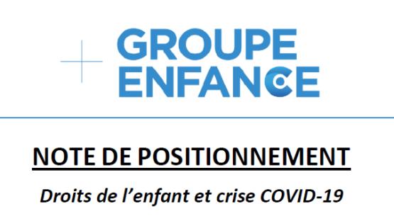 Recommandations du Groupe Enfance pour agir face à la crise COVID-19