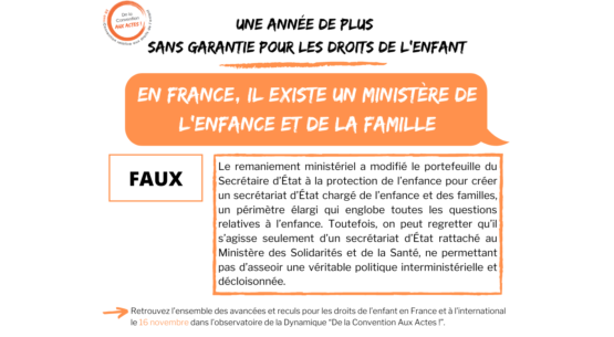 France – Toujours pas de ministère de l'Enfance et de la Famille