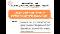 France: 100000 enfants vivant dans des squats, bidonvilles ou hôtels sociaux ne sont pas scolarisés