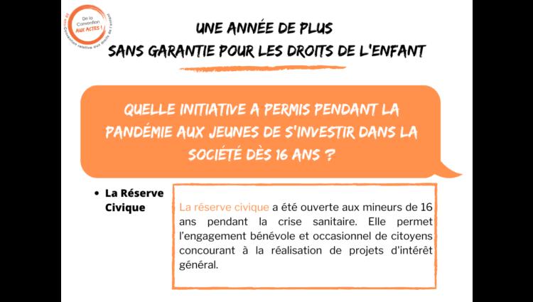 France: la réserve civique a été ouverte aux mineurs de moins de 16 ans durant la crise de la COVID-19