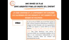 France: la crise de la COVID-19 a provoqué une hausse des violences faites aux enfants
