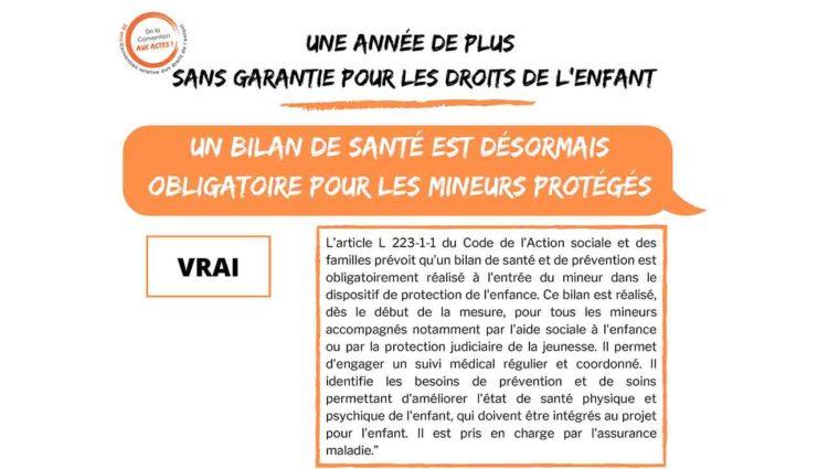 France: Un bilan de santé est désormais obligatoire pour les mineurs protégés